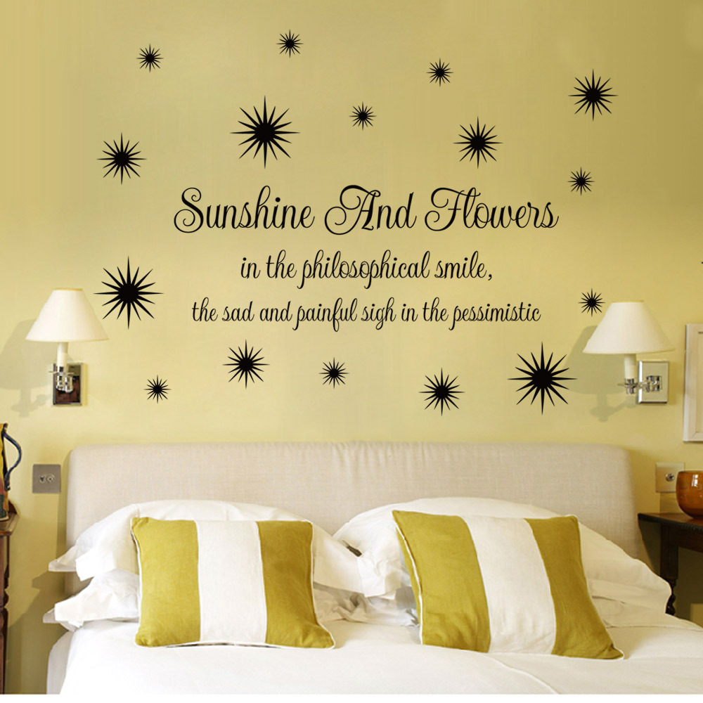 English courtesy sunshine and flowers living room bedroom decoration ...