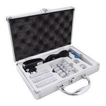 Kit de máquina para maquillaje permanente, pistola con Motor suizo, delineador de ojos y labios, Microblading con tintas, puntas de agujas de tatuaje, Juego de adaptadores