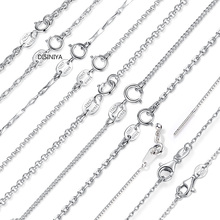 DISINIYA Classic Basic Chain 100% 925 Sterling Silver Lobster Clasp Adjustable Necklace Fashion Jewelry SCA009-45