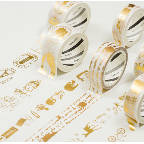 Festival Foil Washi Tape DIY Crafts Wrapping People Adhesive Stickers Scrapbooking Gift Tapes