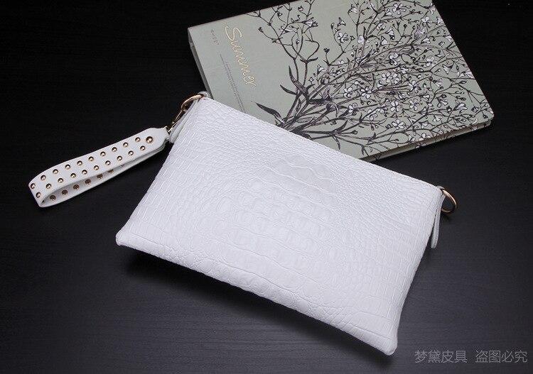 Высококачественный Женский Повседневный клатч, женская сумка-мессенджер из крокодиловой кожи, сумки-клатчи, вечерние сумки, заклепочная рукоять