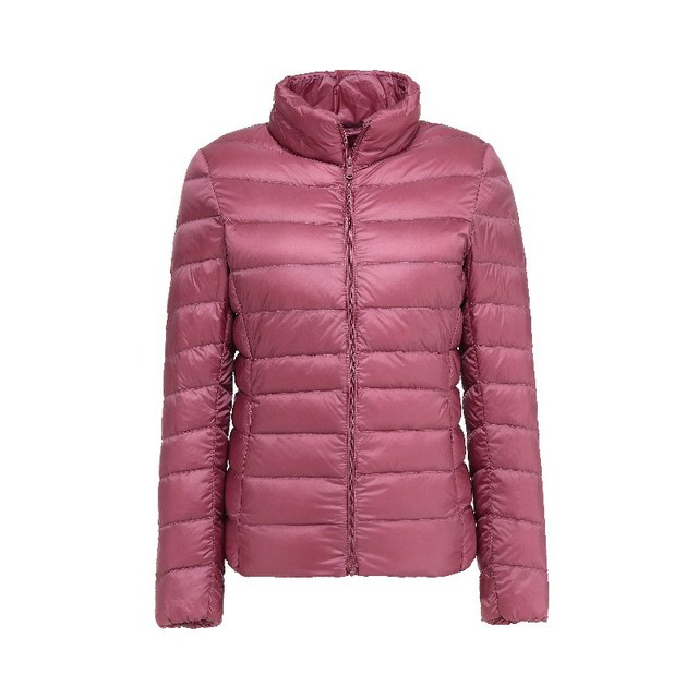 31bb2713396 90% Ultra Light Down Jacket New Plus Size Autumn Winter Women Windproof  Warmth Lightweight Compressible Down Coat LJ0337