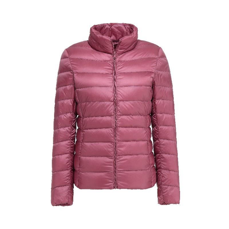 90% Ultra Light   Down   Jacket New Plus Size Autumn Winter Women Windproof Warmth Lightweight Compressible   Down     Coat   LJ0337