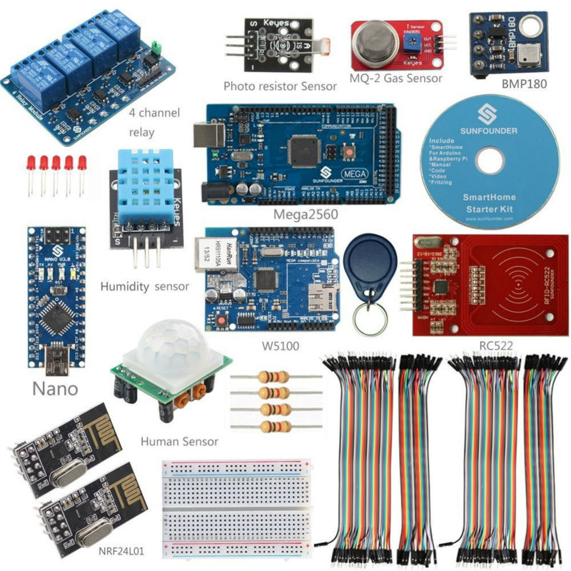 SunFounder DIY Simple Smart Home Internet of Things Kit for Arduino and Raspberry Pi NOT included