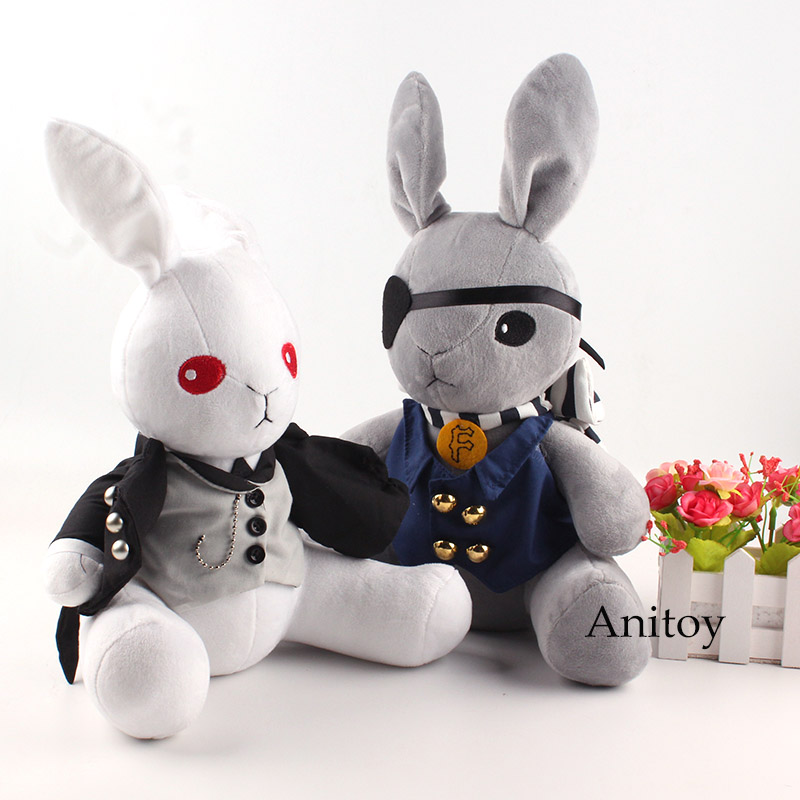Anime Kuroshitsuji Black Butler Plush Doll Rabbit Cosplay Ciel Phantomhive Stuffed Toy For Children 32cm