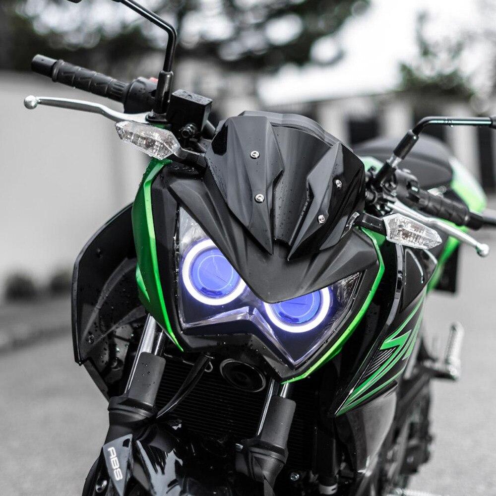 KT Headlight for Kawasaki Z800 2013 2016 LED Angel Eye Blue Demon ... for Motorcycle Headlight Design  104xkb