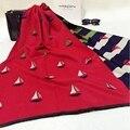 2016 модный бренд одеяло парусник жаккардовые Кашемировый шарф женщин копия Пашмины шарфы Из Шерсти очень большой Теплый шарф Шали пончо