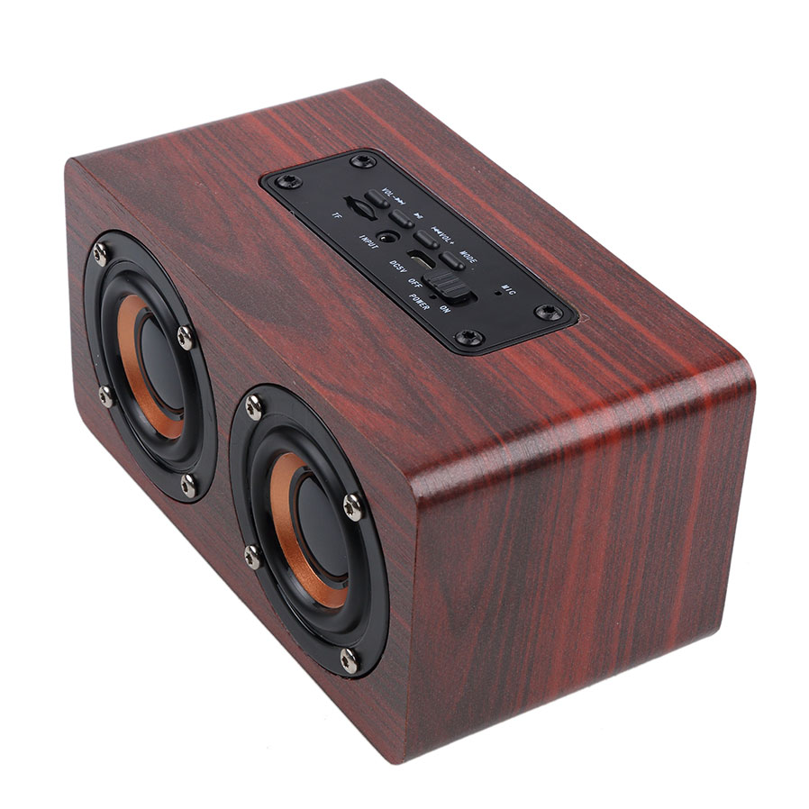 Newest Mini Phone Audio Subwoofer Bluetooth 4 0 Home Wood Charging Card Portable Wireless Bluetooth Small Speaker