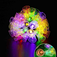 Bells string Light 30 LEDs 6M Solar Lights Garden Decoration Outdoor Christmas Fairy Lamp Strip multicolor LED garland fixtures
