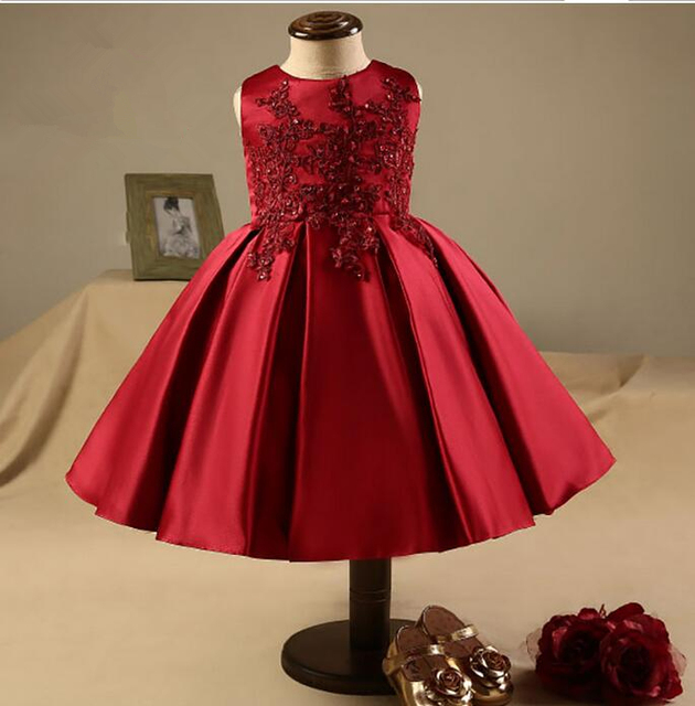 Red Lace Flower Girl Dresses