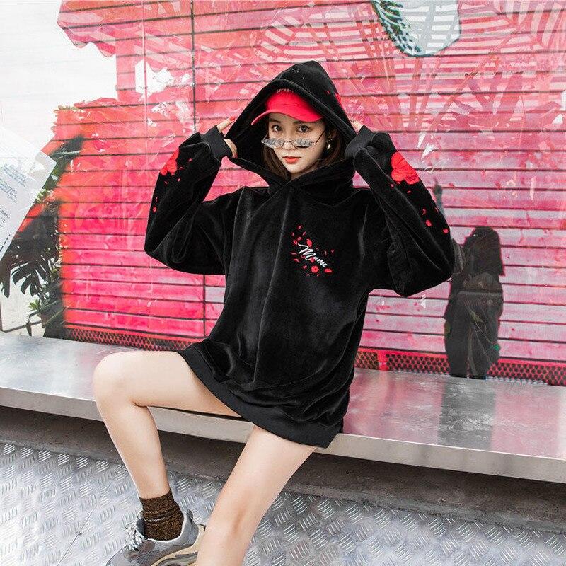 2e6de2429fcb Del Valentino Vestiti Rosa San Il Cappuccio Donna Giorno Sweatshir Formato  Gotici Abbigliamento Felpe b Harajuku ...