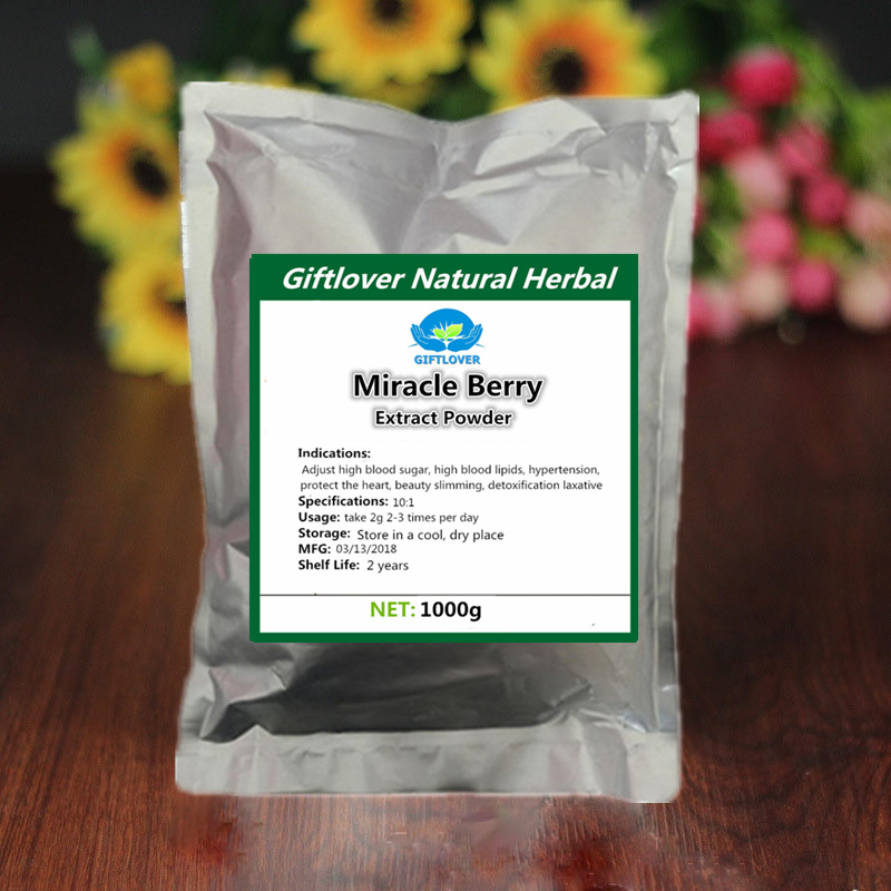 100% Pure Miracle Fruit 10:1 Extract Powder,Miracleberry Ratio Extract,Supplyment for Cardiovascular Support Free shipping
