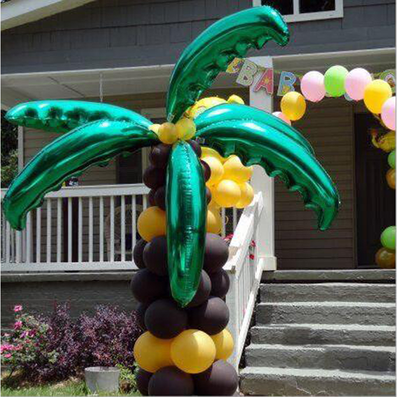 Ballons & Accessories Festive & Party Supplies Contemplative 1pcs 36inch Palm Leaf Balls Wedding Room/opening Ceremony Decor Coconut Tree Leaf Aluminum Foil Balloons Holiday Beach Supplies Driving A Roaring Trade