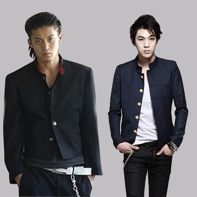 Бесплатная доставка, новинка, японская школьная форма для студентов, мужской Тонкий Блейзер, китайская туника, повседневный пиджак