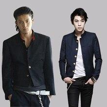 Бесплатная доставка Новый колледжи Университет Японский Школьная форма мужской для мужчин Тонкий Блейзер китайский туника пиджак Топ