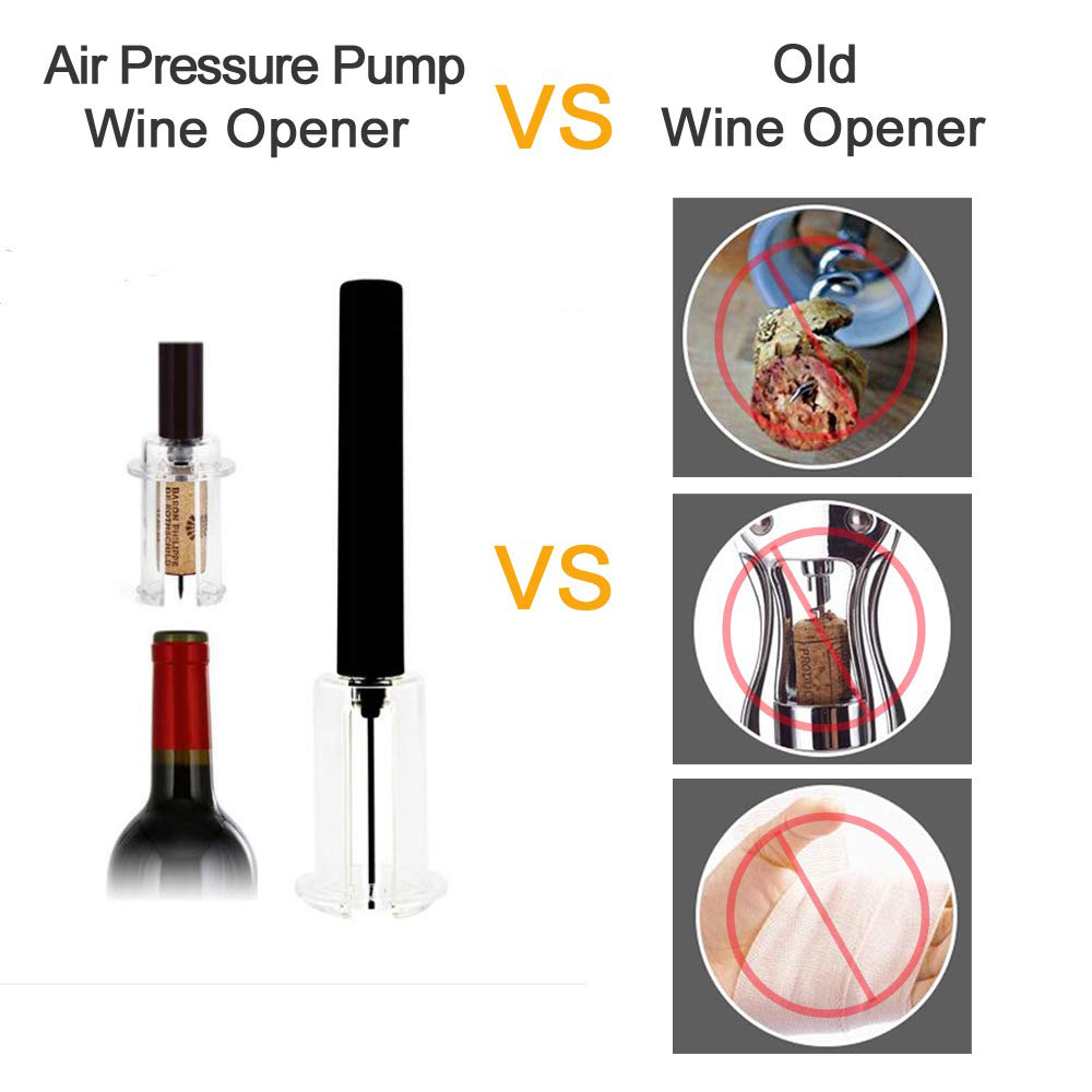 1Pcs Durable Air Pump Wine Bottle Opener Practical Stainless Steel Pin Type Bottle Pumps Opening Tools Bar Kitchen Accessories