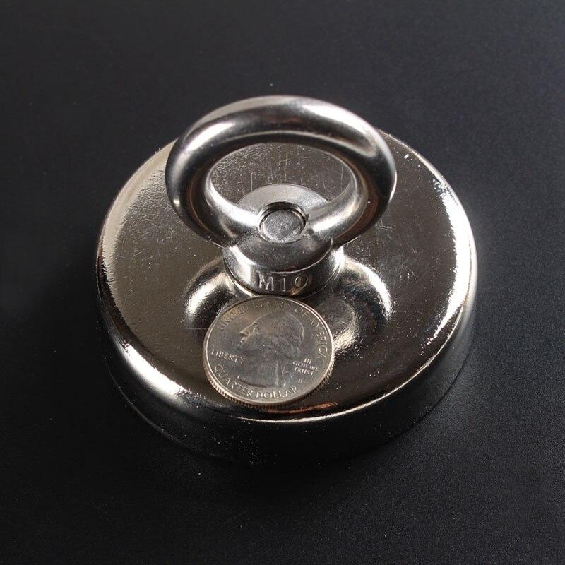 Aimant de montage avec un trou conique, aimant fort En Néodyme Pot avec un anneau 150KGS force de traction, diamètre 75mm aimant de récupération