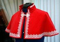 Steampunk Velvet Collar Capelet Xmas Red Velvet Cape capelet Victorian Steampunk Gothic red cape