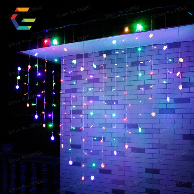 2Mx1M LED Icicle String Lights Christmas Xmas Fairy Lights Outdoor Home For Wedding/Party/Curtain/Garden Decoration Indoor iriver n10 bluetooth voice recorder battery 3 7v lithium polymer battery 502035 walkie talkie batteries