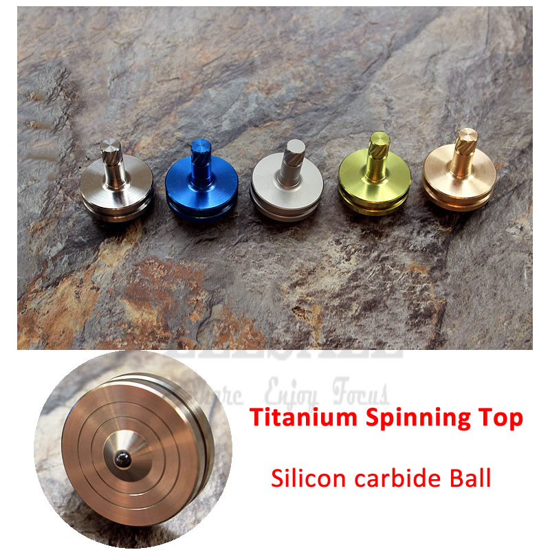 New Hand Spinner TC4 Titanium Alloy Spinning Tops Embeded In Silicon Carbide Ball Fidget Toy Office Toy Relieve Stress