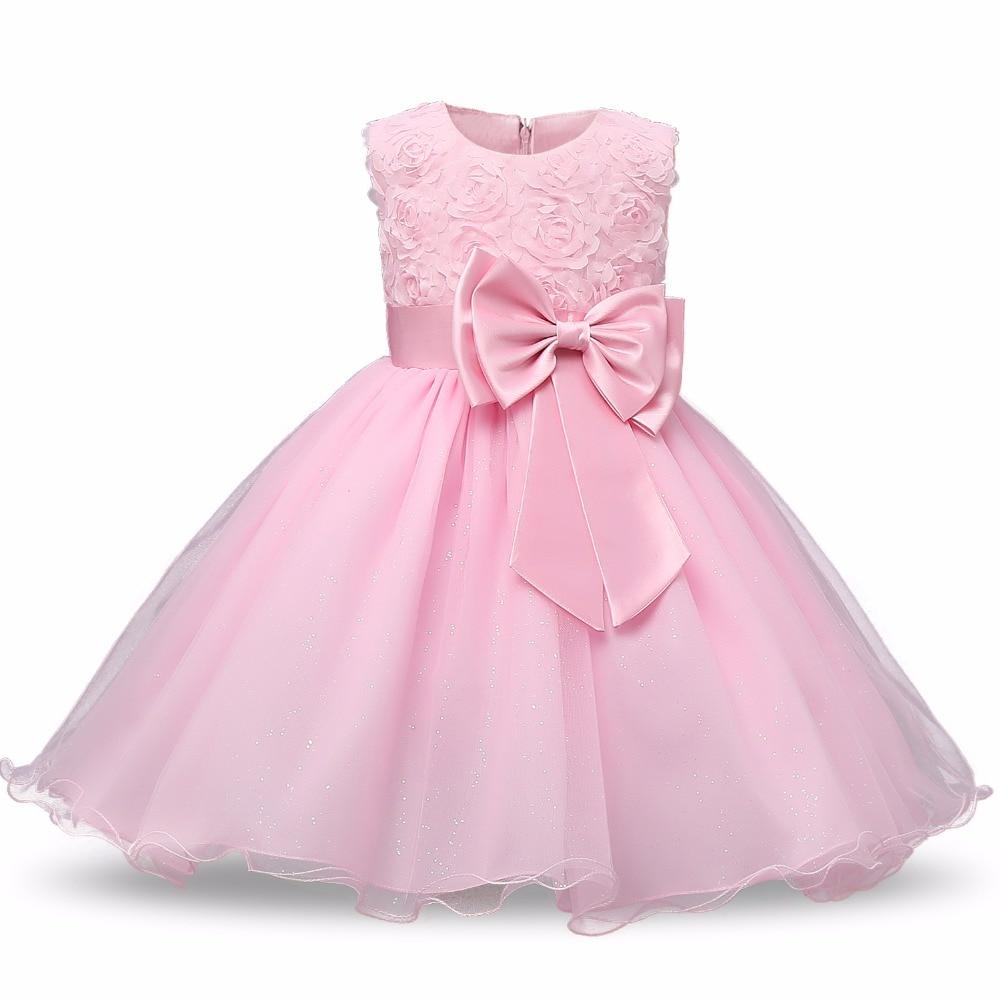 Toddler Girls Patchwork Dress Kids Party Denim Flower Dresses Sundress 1-6t Dresses Girls' Clothing
