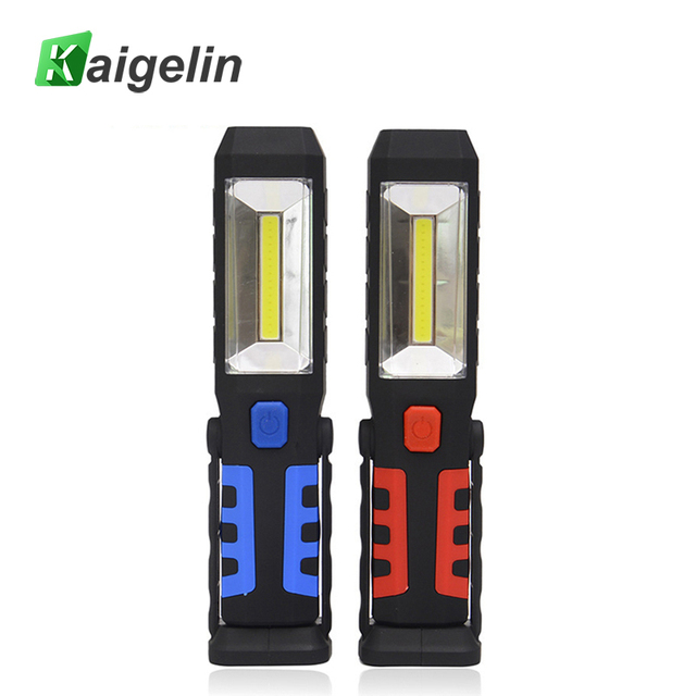 COB LED Work Light Rechargeable USB Magnet Flashlight Red Flash as Power Bank For Outdoor Camping Emergency Car Repair Lighting