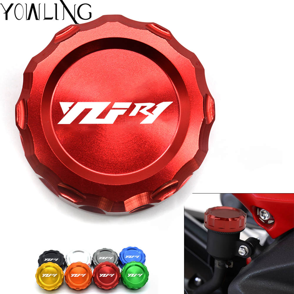 Motorcycle Accessories For YAMAHA YZF-<font><b>R1</b></font> YZF <font><b>R1</b></font> <font><b>2009</b></font> 2010 2011 2012 2013 2014 Motorcycle CNC Rear Brake Reservoir Oil cup cover image
