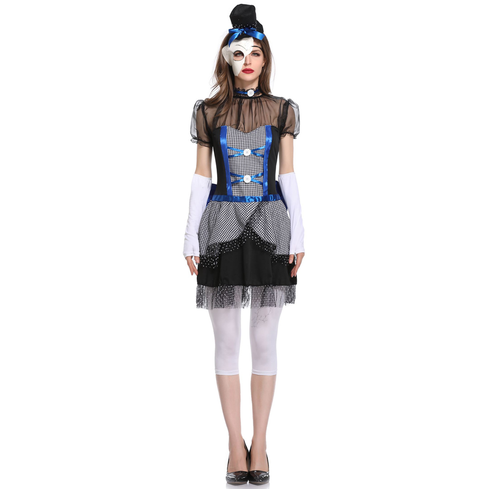 MOONIGHT Halloween Costumes For Women Cosplay Zombie Costume Carnival Party  Fancy Dress Scary Ghost Bride Costume Adult