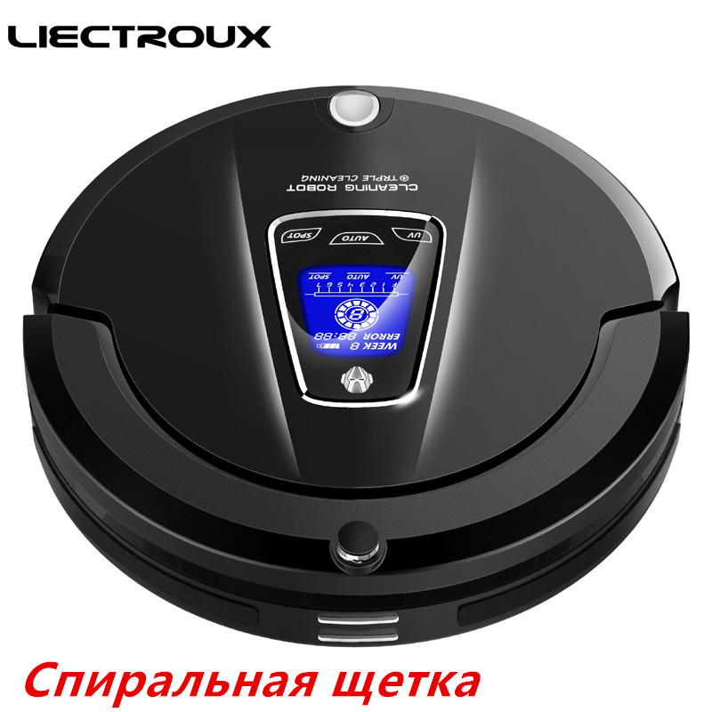 (Free all )2017 new LIECTROUX Robot Vacuum Cleaner A335 mop suction UV remote for Home vacuum dry cleaning pet cat dog hair dust free to all liectroux b2005plus wet and dry mop robot vacuum cleaner with selfcharge home smart remote control cleaning robot