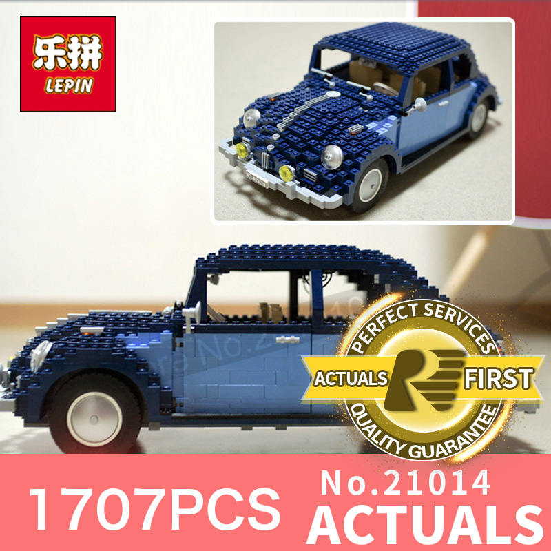1707Pcs New Lepin 21014  Classic Beetle Model car Building Kits Blocks Bricks for Children Christmas gifts LegoINGlys 10187 new lepin 22001 pirate ship imperial warships model building kits block briks toys gift 1717pcs
