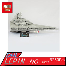 LEPIN 05027 3250pcs Star Series Wars Emperor Fighters Starship Model Building Blocks Bricks Assembling Toy Compatible with 10030