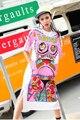 Melinda estilo 2017 de las nuevas mujeres summer dress patrón de impresión de manga corta casual dress vestidos envío gratis