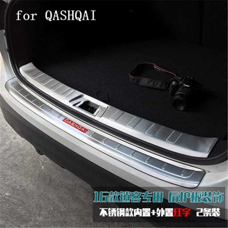 high quality Stainless Steel Rear Bumper Protector Sill Trunk Tread Plate Trim Car Styling For Nissan Qashqai J11 2016 2017 2018