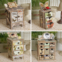 Eno Greeting DIY Mini Drawer Storage Scrapbooking Jewelry Vintage Mni Cabinet Tool Mini Chest Of Drawers