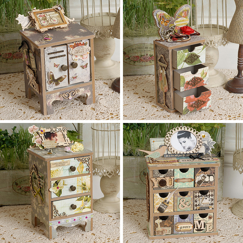 Eno Greeting Diy Mini Drawer Storage Scrapbooking Jewelry