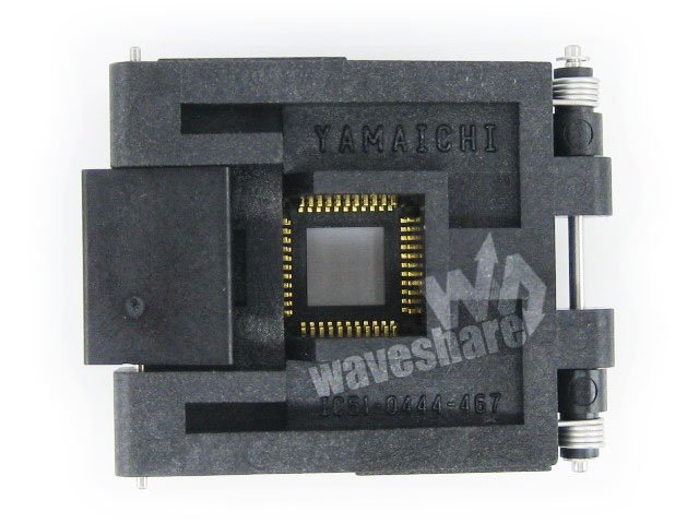 Parts QFP44 TQFP44 FQFP44 PQFP44 IC51-0444-467 Yamaichi QFP IC Test Burn-in Socket Programming Adapter 0.8mm Pitch qfp64 tqfp64 lqfp64 qfp ic test burn in socket ic51 0644 824 yamaichi 0 8mm pitch