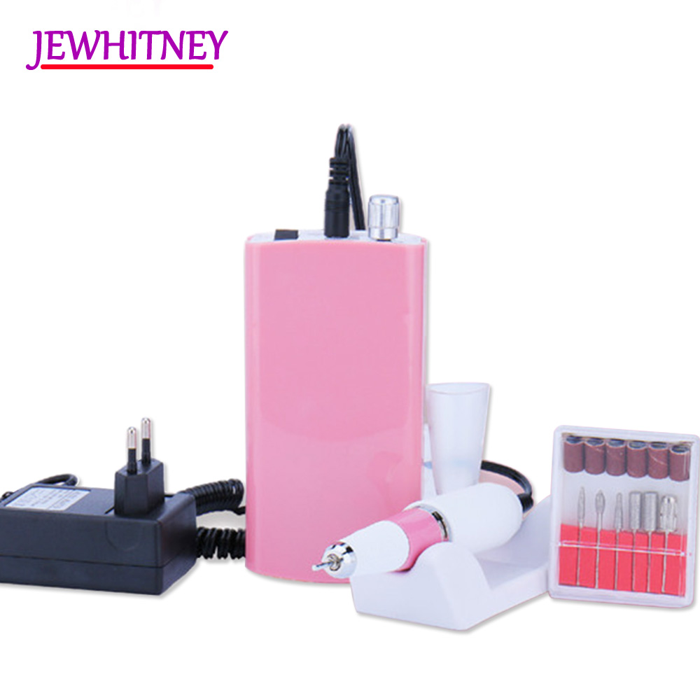 Rechargeable 18W 30000RPM Electric Nail Art Drill Manicure Machine Pedicure Nail Equipment Manicure Pedicure Files Tools kads 30000rpm nail equipment manicure pedicure tools acrylics electric machine handle