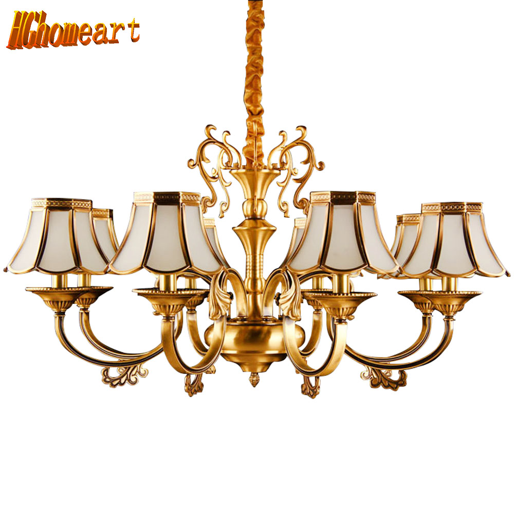 HGhomeart Chandelier European-style copper chandelier living room chandelier lighting bedroom restaurant retro chandelier hghomeart chandelier european style copper chandelier living room chandelier lighting bedroom restaurant retro chandelier