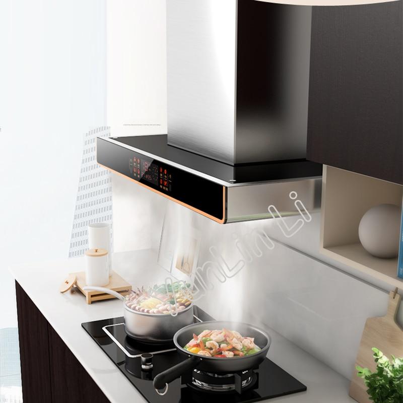 Us 174 25 15 Off Kitchen Exhaust Hood Range Ventilator Hoods Household Stainless Steel Built In Exhauster Cxw 268 Eq07