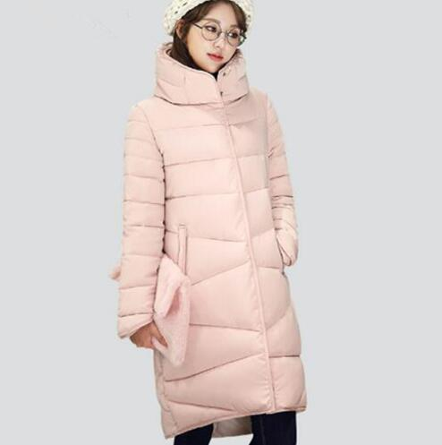 ELEXS 2018 Women Winter Coat Long Slim Thickened Turtleneck Warm Jacket Down Cotton Padded Jacket Outwear   Parkas   TSP8913