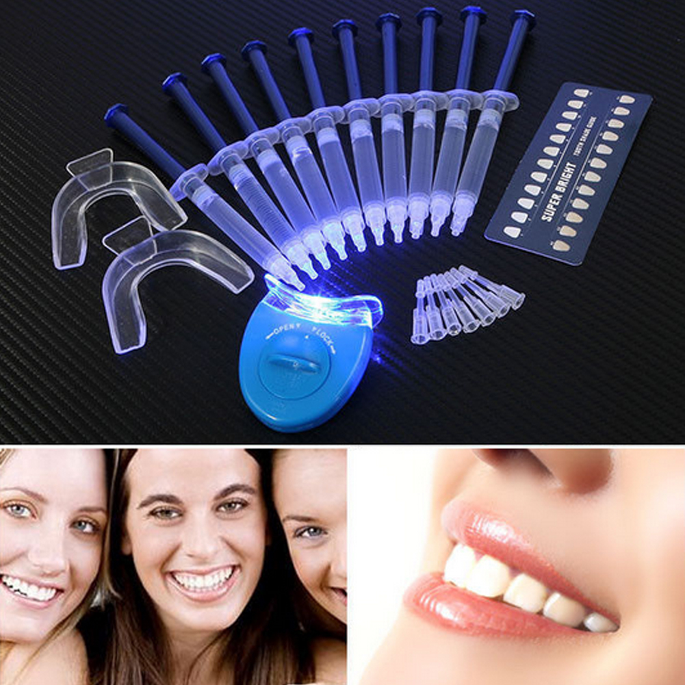 Professional 3D Teeth Shade Guide Dental Teeth Whitening kit 44% Carbamide Peroxide Bleaching Oral Gel Kit Tooth Whitener Brush