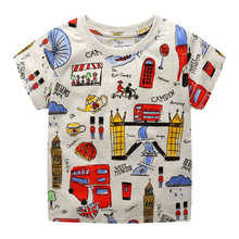 Kids t-shirt Toddler Kids Baby Boys Clothes Short Sleeve Cartoon Car Print Tops T-Shirt Blouse New Summer Cotton shirts стоимость