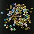 600 PÇS/LOTE Mix 6 Cores De Vidro Opala Strass Cristal SS16 (3.8-4 MM) Point Voltar Beads Nail Art Artesanato Jóias Vestido Decoração