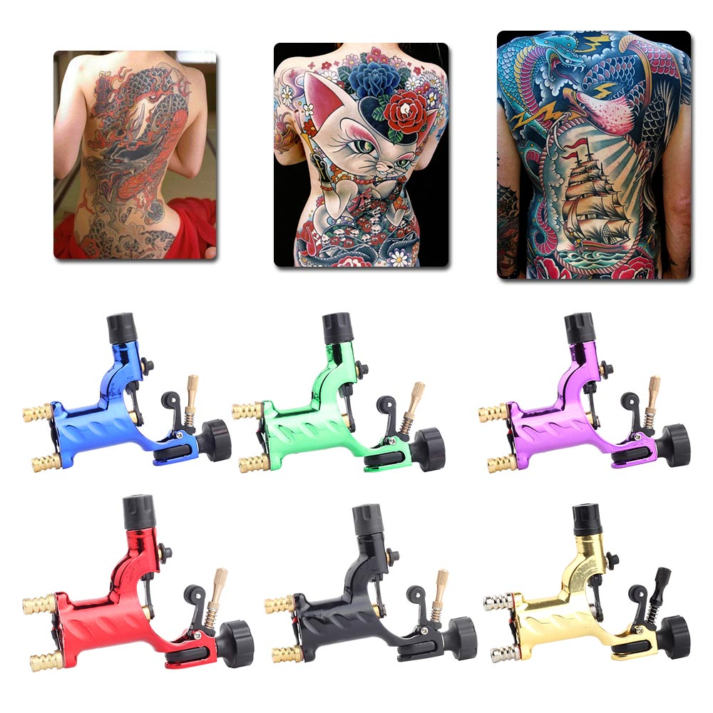 Dragonfly Rotary Tattoo Machine Shader and Liner Tattoo Motor Gun Kits 7 Colors Assorted Beauty Tool