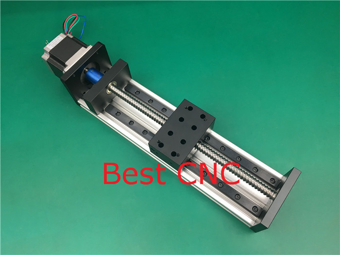 High Precision CNC GX 80*50 1605 Ballscrew Sliding Table 900mm effective stroke+1pc nema 23 stepper motor axis Linear motion toothed belt drive motorized stepper motor precision guide rail manufacturer guideway