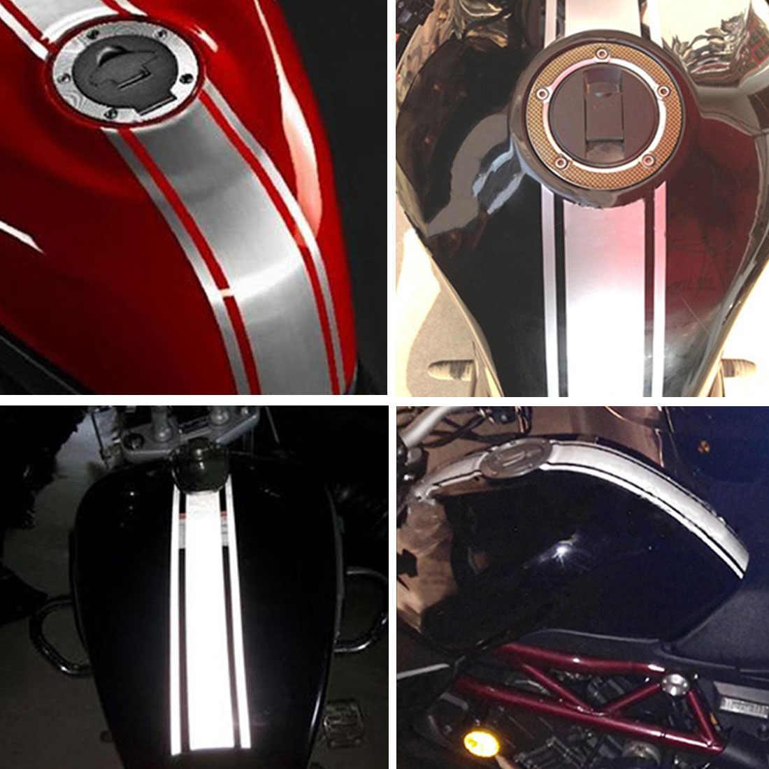 รถจักรยานยนต์สติกเกอร์สะท้อนแสงการใช้ถังน้ำมัน Pad Decal Decor สำหรับ HONDA CB190R VT1100 GROM MSX125 Honda XADV 750 X-11