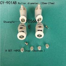 4 x Shower Door Rollers/Runners/Wheels Replacement   CY-901AB 2top +2 bottom