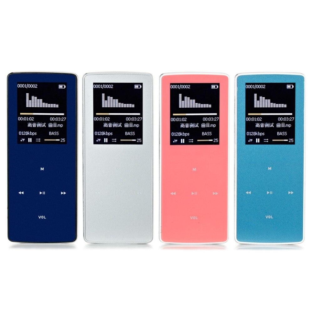 New professional ONN MP3 Bluetooth Music Player 8GB storage 1 8 Inch Screen 60h Sports MP3