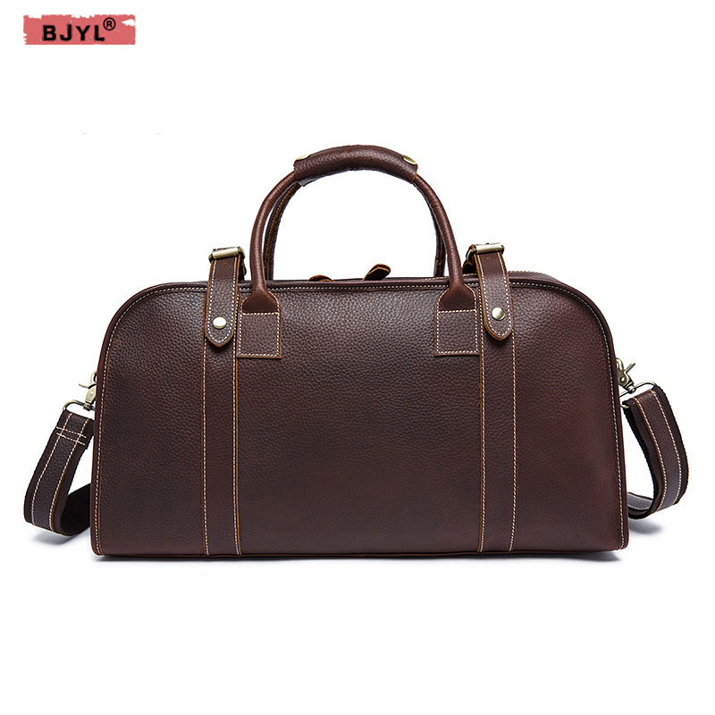 BJYL Retro mad horse leather men travel bag large capacity leather hand bag foreign trade shoulder messenger bagBJYL Retro mad horse leather men travel bag large capacity leather hand bag foreign trade shoulder messenger bag