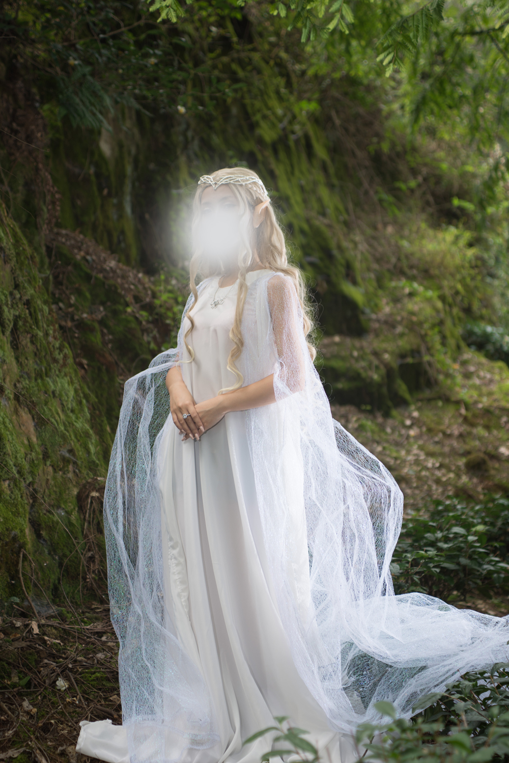 2016 The Hobbit The Lord of the Rings Galadriel Cosplay Costume Galadriel Dress Artanis Nerwen Cosplay Dress